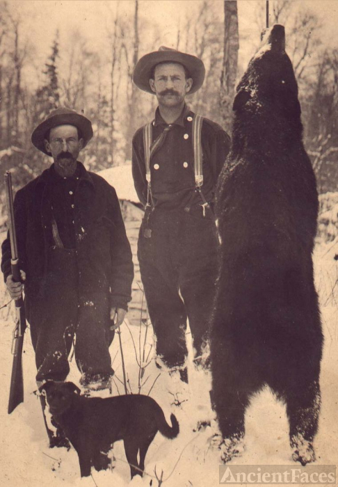 John Hillman with bear