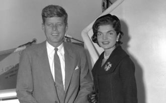 Senator Jack Kennedy and Jackie (Bouvier) Kennedy