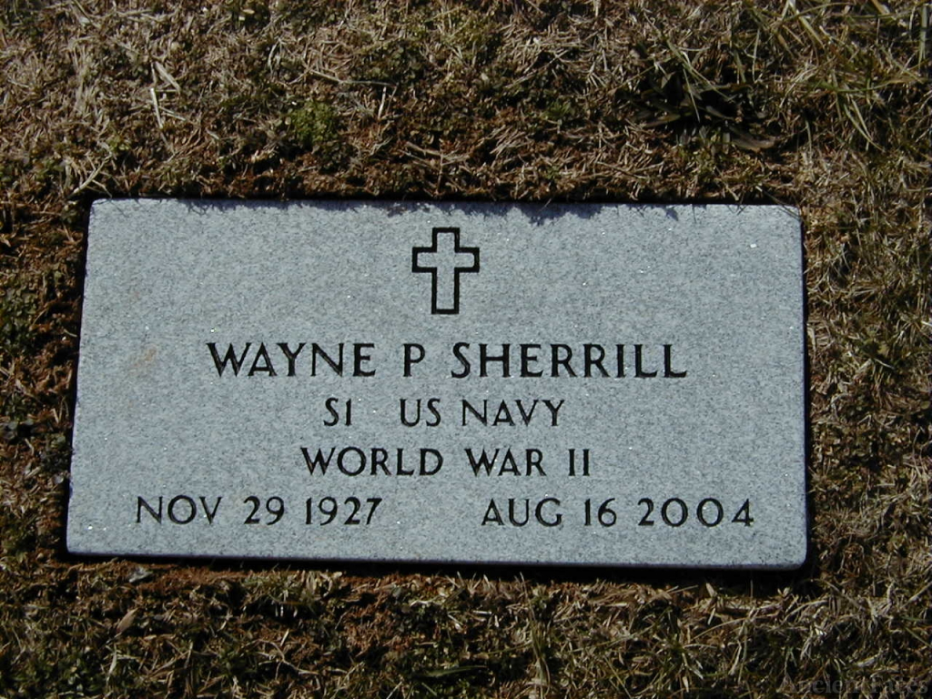 Wayne Perry Sherrill Footstone