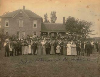 Wedding in Arcadia Wisconsin 1900