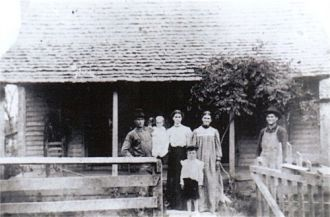 Nancy Elizabeth Rhodes Benton & family