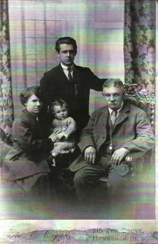 nana and granddad with aunty Soph and great granddad George