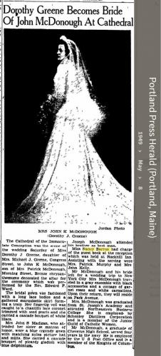Nancy Maynes Barron--Portland Press Herald (Portland, Maine)(8 may 1949)