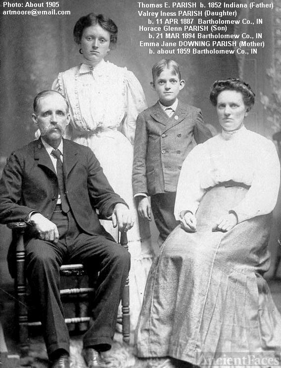 Thomas E. PARISH and Family