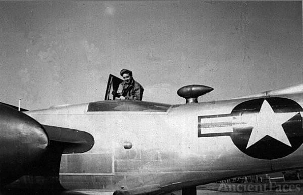 Charles H. Barrett in his plane