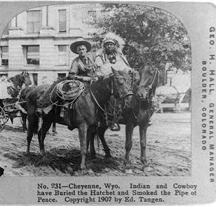 Indian and cowboy
