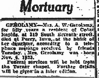 Harriet Seymour Thorpe obituary