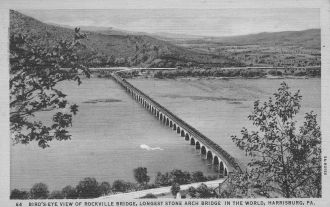 Rockville Bridge above Harrisburg, PA