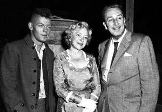 James MacArthur, Helen Hayes and Walt Disney.