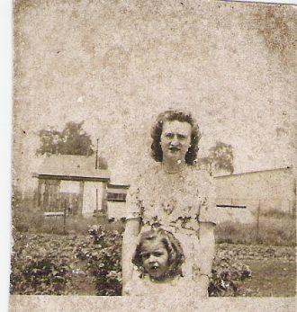 Agatha and Yvette Bernard , 1944
