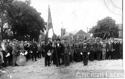 Mayor Krisius Wagner and Flag