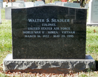 Colonel Walter S. Seadler is buried in Arlington Cemetery.