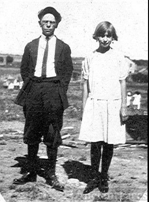 Unknown young man and woman in Oklahoma