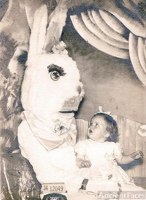 Easter Bunny with child