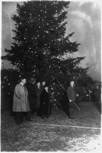 President Coolidge & Christmas tree