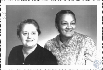 Eva Clausen is on left, while her associate and friend on right is Celeste Richardson (1909-1986).