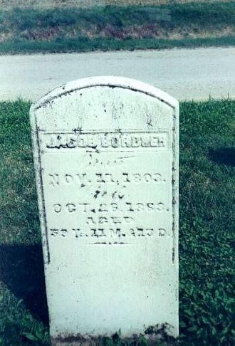 Jacob Bordner Tombstone