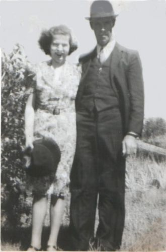 Albert and Thelma Taylor on their Wedding Day