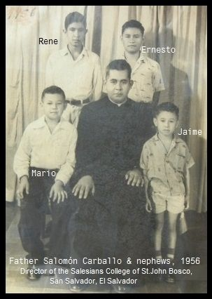 Father Salomón Carballo & nephews , 1956