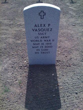 Alex P Vasquez gravesite
