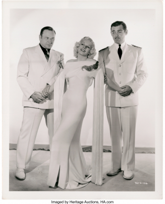 Wallace and Clark Gable with Jean Harlow.