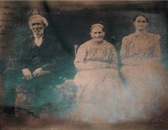 Robert Adams, Wife Martha Jones Adams and Daughter