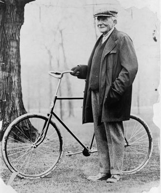 John D. Rockefeller & bicycle