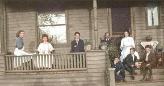 Tatus on Front Porch