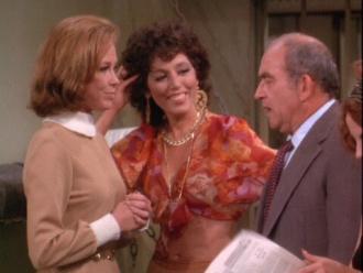 Mary Tyler Moore, Barbara, and Edward Asner.