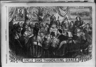 Uncle Sam's Thanksgiving dinner