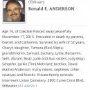 Ronald Everett Anderson Obituary