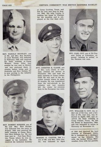 ted stafford's Army Book WW II Chetopa Kansas
