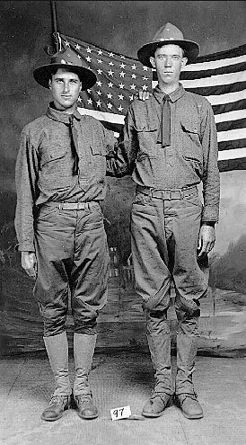 Harvey Lacy Cain & unknown friend