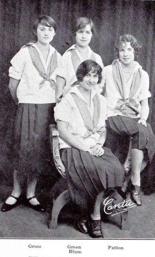 Hazel Gross & 1926 Captains, Girls Hockey Teams