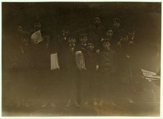 Bridgeport, Conn. Newsboys. One of the smallest has been...