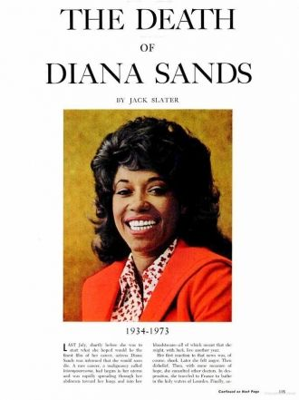 Diana Sands Obituary