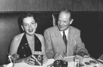 Judy Garland and friend MGM's Silas Seadler.