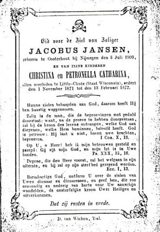 Jacob Jansen Obituary