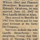 1985 Obituary for Johnnie Beauchamp
