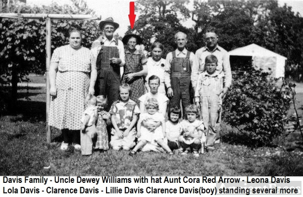 Dewey & Cora (Davis) Williams family