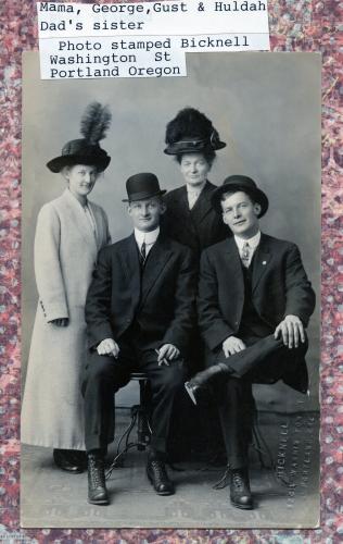 Mama, George,Gust & Huldah Blomgren