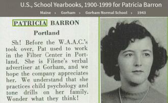 Patricia Collins Barron-Donovan--U.S., School Yearbooks, 1900-1999(1943)