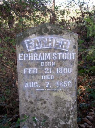 Stout, Ephraim-Tombstone