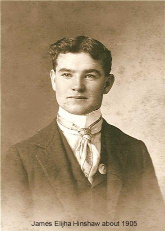 James Elijha Hinshaw, IN 1905