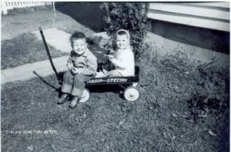 Tuttle children on a wagon
