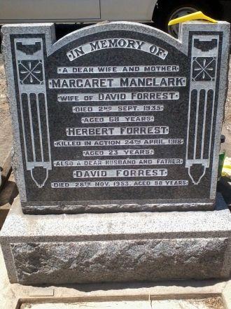 Herbert Ramsay Forrest gravesite