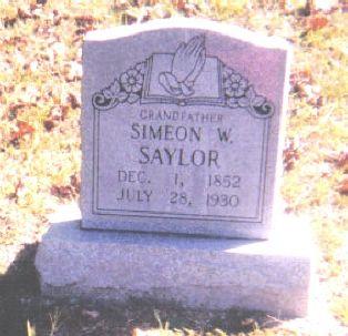 Simeon W. Saylor b. 1852