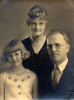 Barbara with her parents.