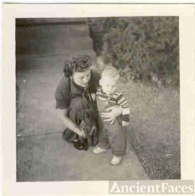 Marie Trowbridge with grandson
