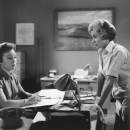 Pat Hitchcock in PSYCHO with Janet Leigh.
